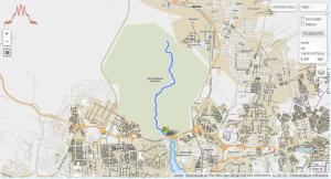 GPSies Laufstrecke Banco Forest, Abidjan