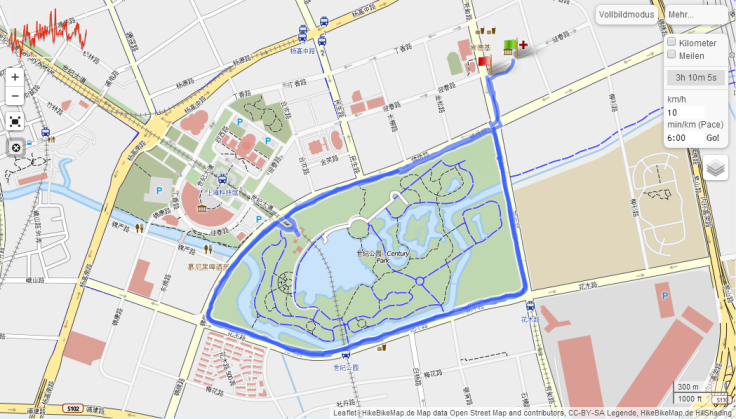 aufstrecke  Century Park Shanghai  GPSies - Google Chrome_2014-04-24_21-32-31