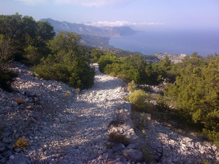 Blick Richtung Cala Golone