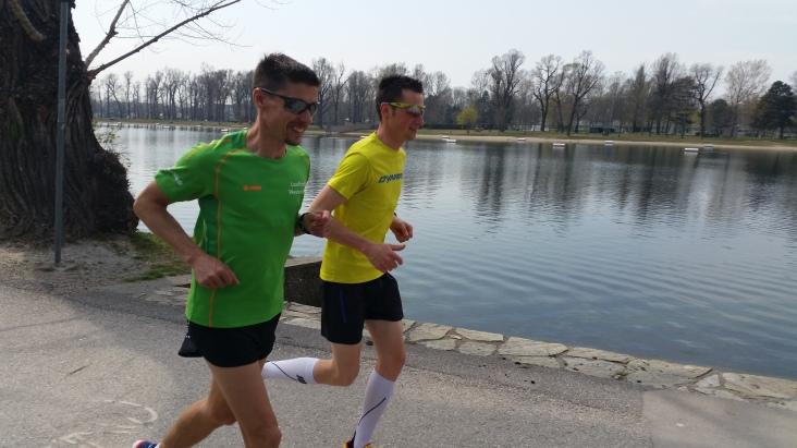 Lockeres Einlaufen mit Thomas Farbmacher am Tag vor dem Marathon