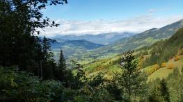 Blick vom Wasserfallweg Richtung Hopfgarten/Wörgl
