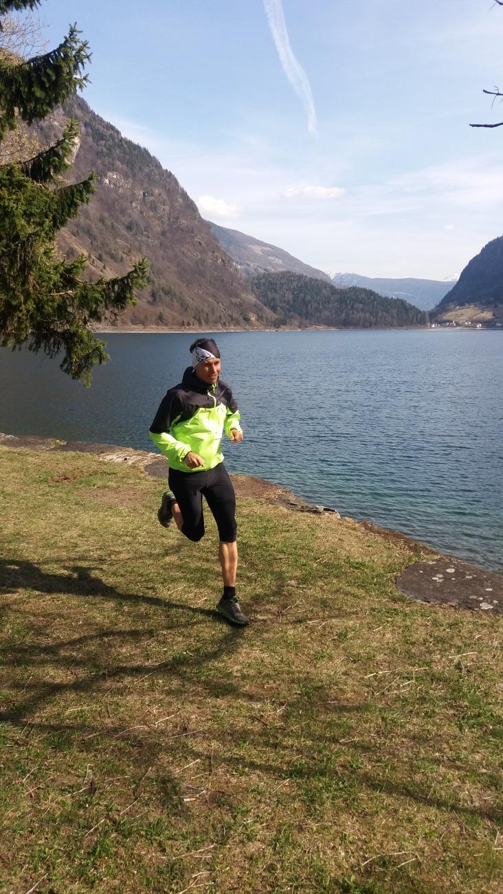 Laufen am Lago Poschiavo